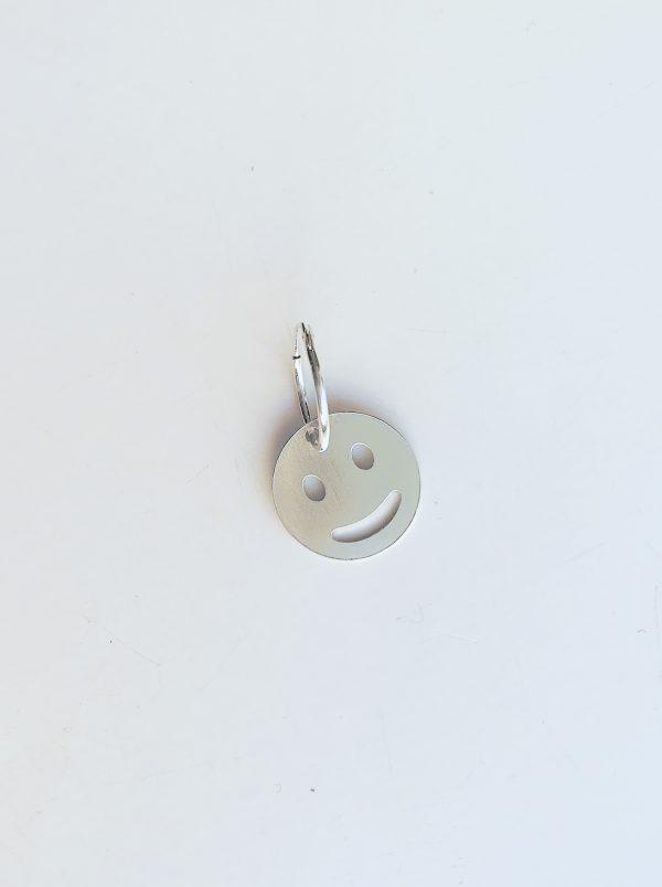 Smiley single earring silver
